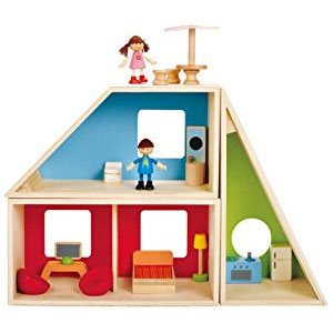 Hape Geometrics Kids Wooden Doll House