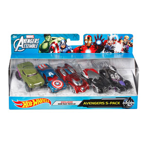 Hot Wheels Marvel Avengers Die-Cast Vehicle, 5-Pk