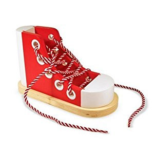 Melissa & Doug Deluxe Wood Lacing Sneaker