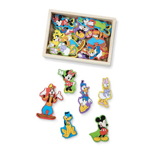 Melissa & Doug Disney Mickey Mouse Wooden Character Magnets, 20-pcs