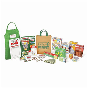 Melissa & Doug Fresh Mart Grocery Store Play Food & Role Play Companion Set