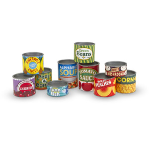 Melissa & Doug Lets Play House! Grocery Cans