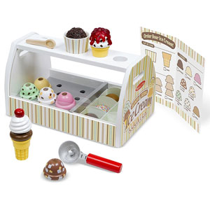 Melissa & Doug Wooden Scoop and Service Ice Cream Counter