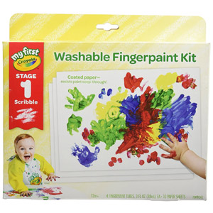 My First Crayola Washable Fingerpaint Kit