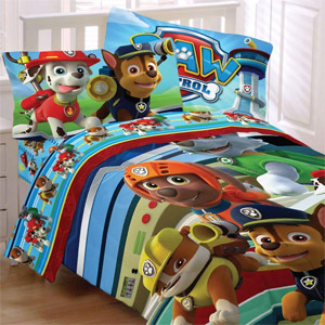 Paw Patrol 4-Pc Twin Comforter and Sheet Set Bedding Collection