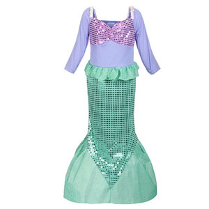 ReliBeauty Girls Sequins Little Mermaid Costume