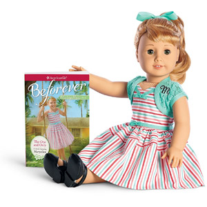 American Girl Julie Doll & Paperback Book