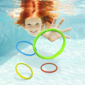 Aqua Games Dive Rings (Set of 6) by Aqua Leisure