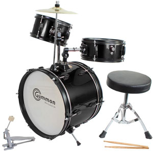 Gammon Drum Set Black Complete