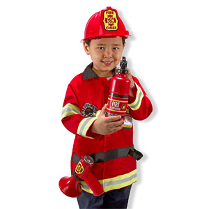 Melissa & Doug Fire Chief Role Play Costume