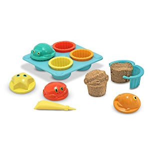 Melissa & Doug Sunny Patch Seaside Sidekicks Sand Cupcake Play Set