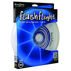 Nite Ize Flashflight LED Light Up Flying Disc, Glow in the Dark for Night Games, 185g