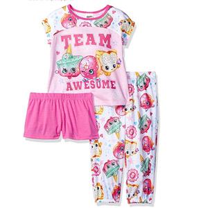 Shopkins Girls Team Awesome 3-Piece Pajama Set