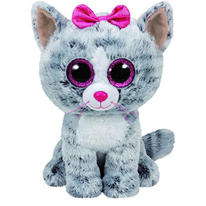 Ty Kiki Grey Cat Plush