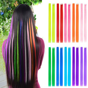 BHF 10pcs Colored Clip in Hair Extensions