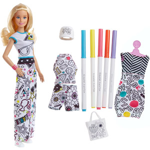 Barbie + Crayola Color-In Fashions