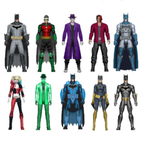 DC Batman Knight Missions 6-Inch Figures