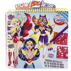 DC Superhero Girls Fashion Sketch Set
