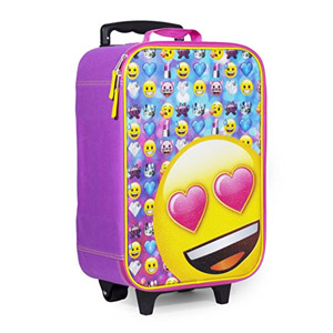 Emoji Pink Heart Eyes Luggage