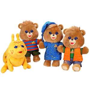 Hug N Sing Teddy Ruxpin and the Grubby Collection
