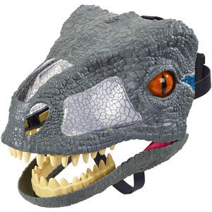 Jurassic World Chomp N Roar Mask Velociraptor Blue