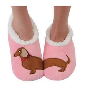 Snoozies Splitz Applique Slipper Sock