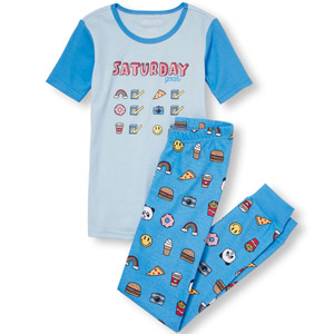 The Childrens Place Emoji Pajama Set