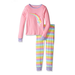 The Childrens Place Girls 2-Piece Cotton Pajamas