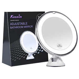 Kedsum 10X LED Lighted Makeup Mirror
