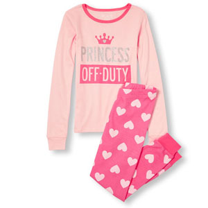 The Childrens Place Princess Off-Duty Pajamas