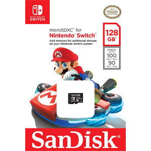 SanDisk 128GB microSDXC UHS-I Card for Nintendo Switch