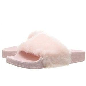 Steve Madden Faux Fur Slide