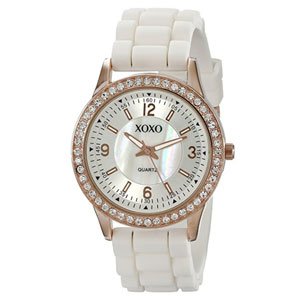 XOXO Rhinestone-Accented Watch