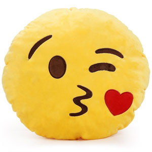 YINGGG Kissy Face Emoji Plush Pillow