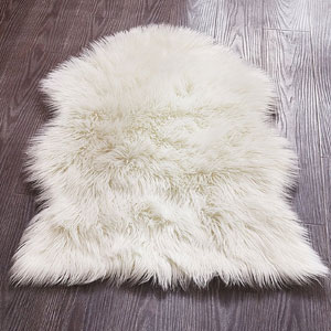 Chanasya Soft Mangolian Faux Fur Rug