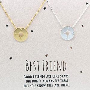 DIANPEARL Best Friend Necklace