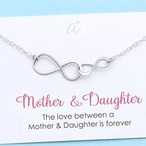 Mother and Daughter Ininity Necklace