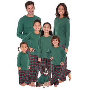 PajamaGram Plaid Christmas Matching Family Pajamas