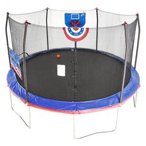 Skywalker Trampolines 15-Feet Jump N Dunk Trampoline