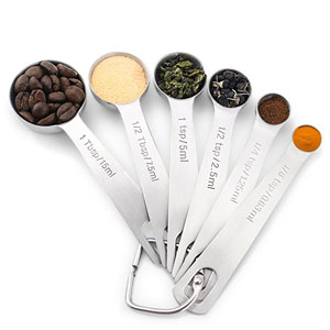 1Easylife 18/8 Stainless Steel Measuring Spoons
