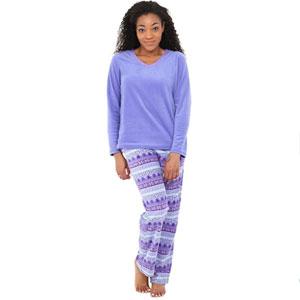 Alexander Del Rossa Fleece Pajamas