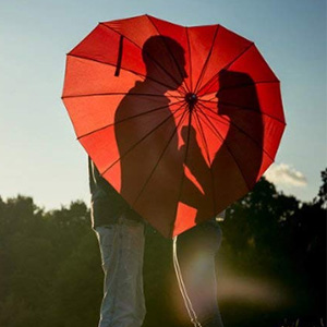 AoGV Heart Shaped Umbrella