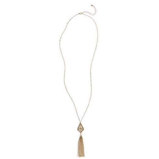 BP Chain Tassel Pendant Necklace