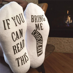 Bring Me Chocolate Funny Socks