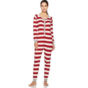 Burts Bees Striped Holiday Pajamas