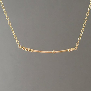 CUSTOM Morse Code Necklace