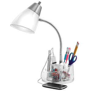 Catalina Desk Lamp With Organizer