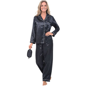 Del Rossa Womens Satin Pajamas
