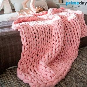 EASTSURE Bulky Knit Throw Chunky
