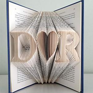 Initials Folded Paper Book